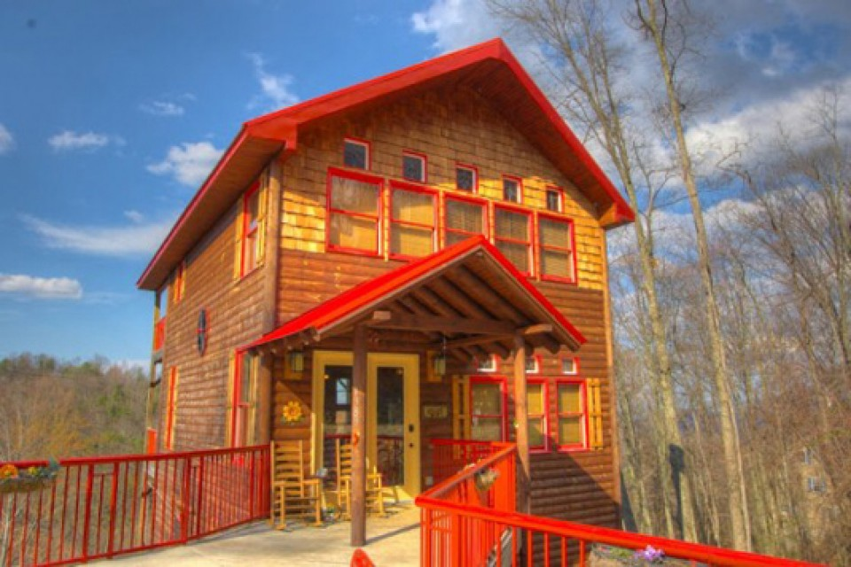 Cabins in chalet village the finest accomodations for for Luxury pet friendly cabins in gatlinburg tn